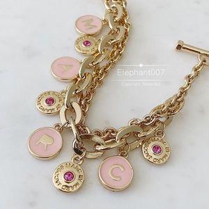 Marc jacobs pink charm bracelet